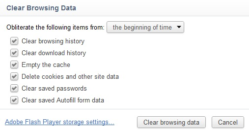 Delete Chrome History